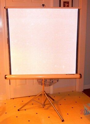 """Vintage Radiant Movie/Slide Projector Screen 40""""x 40""""   Original Box MADE IN USA"""