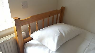 Single Bed with Mattress, solid pine
