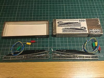 marklin 8561 z gauge electric points - pair one each lh and rh turn