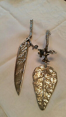 Pie Server & Cake Knife, Silver Plate Heavy With Jewels Unusual Set, Perfect For