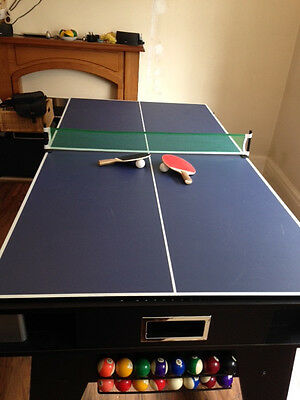Multigames table air hockey,pool and table tennis. Fab condition.Hardley used.