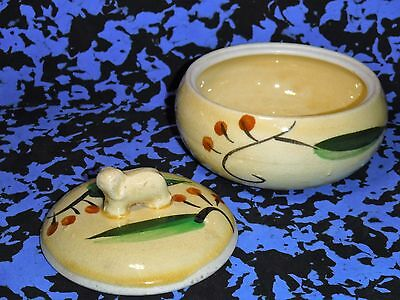 Antique Elephant Handle Hand Painted Sugar Bowl / Made In Japan