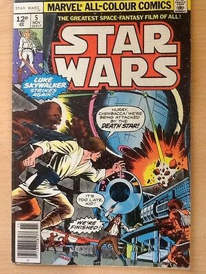 Star Wars 5 Marvel First Print from 1977