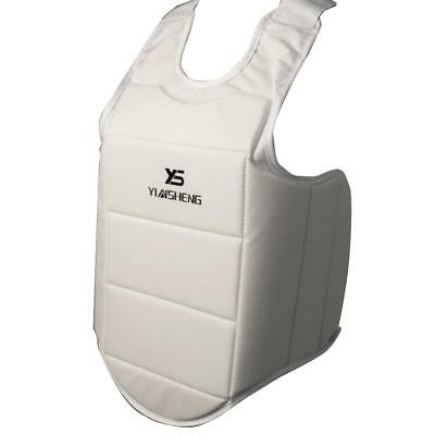 Breathable Karate Chest Guard Padded MMA Boxing Body Waist Protector Vest XL