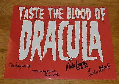 Isla Blair SIGNED photo -Taste the Blood of Dracula 10x8