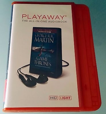 A GAME OF THRONES by GEORGE R.R. MARTIN AUDIOBOOK + Lettore Playaway all in one