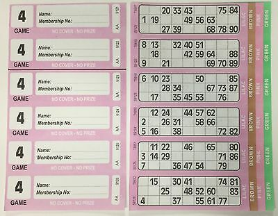 300 4 Page (Games) Books - XL Bingo Tickets Booklets- Similar to Jumbo