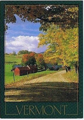 Vermont Country Road Postcard  # 5195