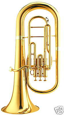 High quality Eastern music Euphonium 3 piston gold lacquer with case