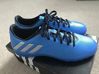 Adidas Messi Boys Men's Astro Trainers Football Boots Blue Size 6