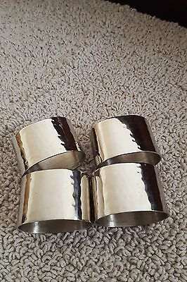 Zara Home 4 Silver Plated Decor Cutlery Dining Napkins Rings Set