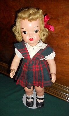 Terri Lee Early Painted Plastic Doll 1950's Marked Terri Lee Patent Pending