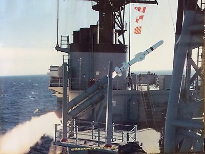 """Vintage McDonnell Douglas  Lithograph """"Harpoon Missile""""  - 10"""" x 8"""" - US Navy"""