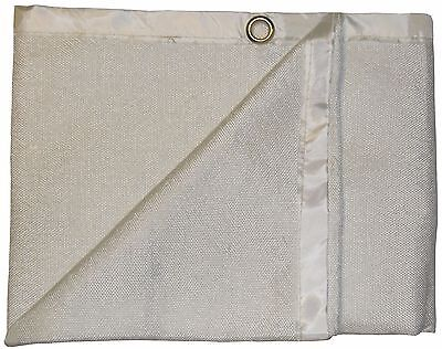Light Duty 3m x 2m 600°C Glass Fibre Coated Welding Blanket / Fire Blanket
