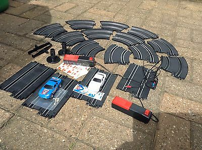 Micro Scalextric Saloon Car Set,two Cars, No Box
