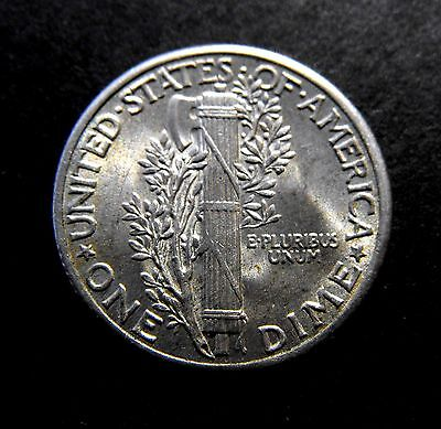 USA 1937 (P) Mercury Head Silver DIME 10c in a very high grade