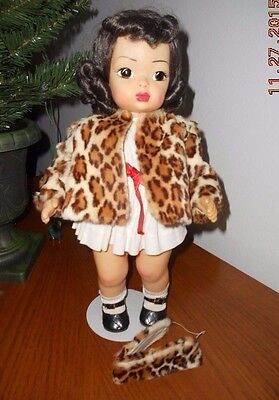 "Terri Lee 1950's Leopard Print Jacket and Headband 16"" doll Printed  Stamped Tag"