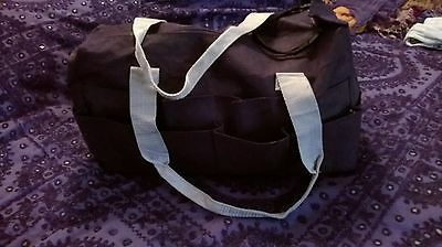 Large Black Craft Storage Tote Bag VGC Double zip, 23 compartments, card making