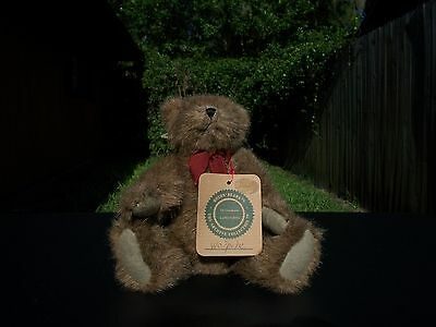 """Boyds Bear """"Walpole"""" Jointed  Plush Stuffed  Investment Collectables Brown Teddy"""