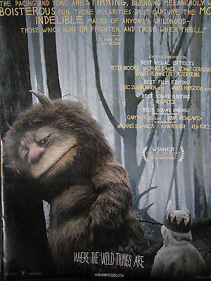 Where the Wild Things Are   RARE  Oscar Ad