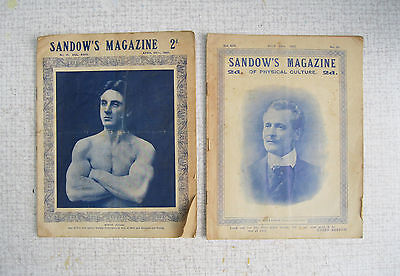 2 copies of Sandow's Magazine Of Physical Culture, 1907.