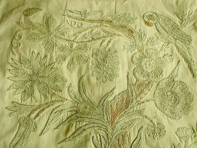 Vintage Crewel Embroidered Cushion Cover, Panel