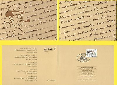 1994 Switzerland Belgium France Joint Issue Folder Georges Simenon Maigret