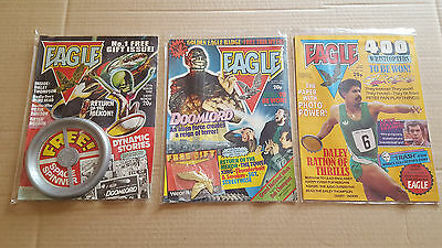 Eagle 1, 2, 3 Comic's With Free Gifts - Spinner / Badge
