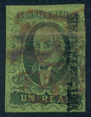 we06 Mexico #7 1R 1861, Victoria  Sz 1818 'Franco' in red 45pts.