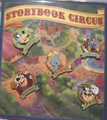 Disney Storybook Circus 5 Pin Booster Set- New on Car and Sealed # 93595