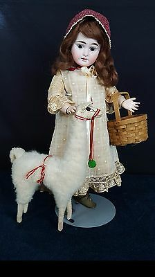 German Armand Marseille 1894 Stunning Antique Doll 17 in Brown Hair Brown Eyes