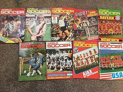 8 x world soccer Football Magazine - 1978-80 inc. Argentina World Cup special