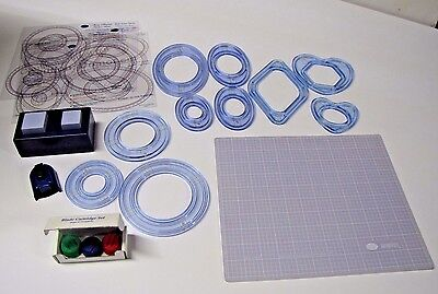CREATIVE MEMORIES Lot 19 piece Custom Cutting System Blades punches SHAPES