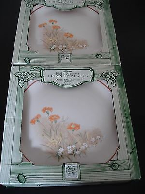 Marks & Spencer (M&S) Field Flowers design Dinner Plates x 6. New in Boxes