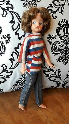 1960s Sindy Doll MINI with Original Weekenders outfit  - BRUNETTE