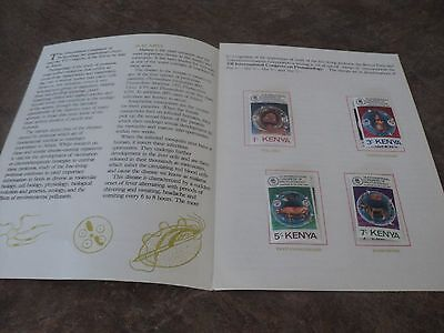Stamps British Commonwealth Kenya Mnh With Postal Cards