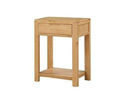 Hartselle Solid Oak Small Hall Table - Solid Oak 1 Drawer Console Table with Und