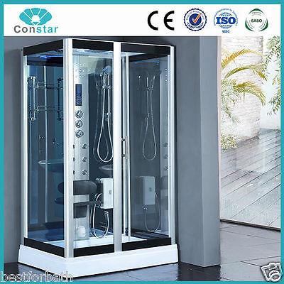 Steam Shower Enclosure w/Hydro Massage.Bluetooth Audio.USA Warranty. HD