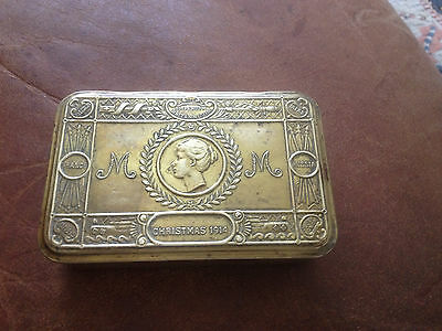 Genuine 1914 Princess Mary brass tobacco tin-good usable condition