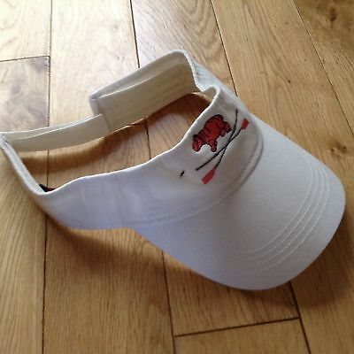 leander rowing club white visor with Leander hippo