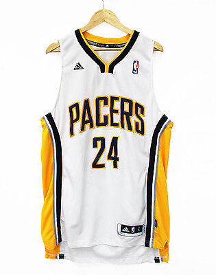 Vintage Indiana Pacers George Stitched Authentic Jersey Basketball NBA shirt L