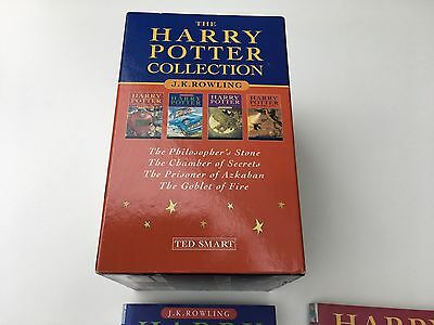 The Harry Potter Collection Hardback Book Set- x4 Books- 1-4- Ted Smart- Rare