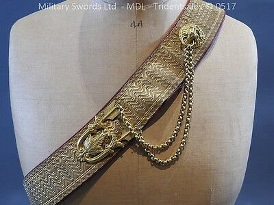 Edwardian 18th Hussars Full Dress Pouch and Cross Belt