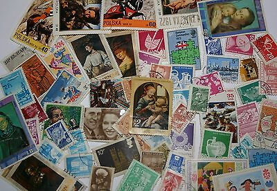 Stamp Collection Mixture Of Everything From All Over The World Various Ages