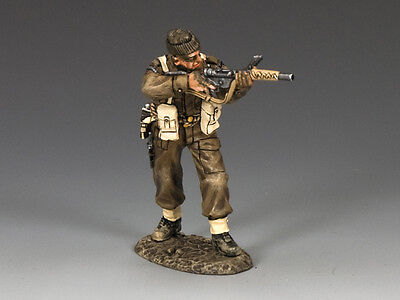 King And Country Dd234 - Commando With Sten Gun & Silencer - Wwii D-Day