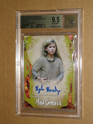✨✨ Bgs 9.5 Walking Dead Survival Box Kyla Kennedy Mika Infected Auto Autograph ✨