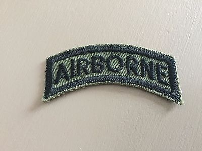 Military Patch  U. S. Army Airborne Tab Olive Drab Subdued.