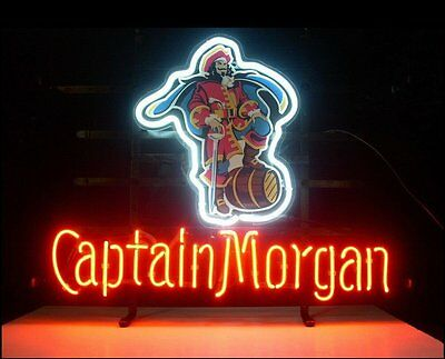 "New Captain Morgan RUM Pirate Beer Neon Sign 17""x14"""