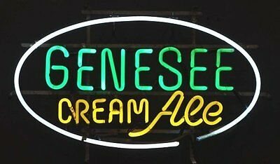 "New Genesee Cream Ale Beer Neon Sign 17""x14"""