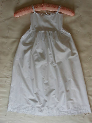 Vintage White Cotton Hand Made Christening Gown